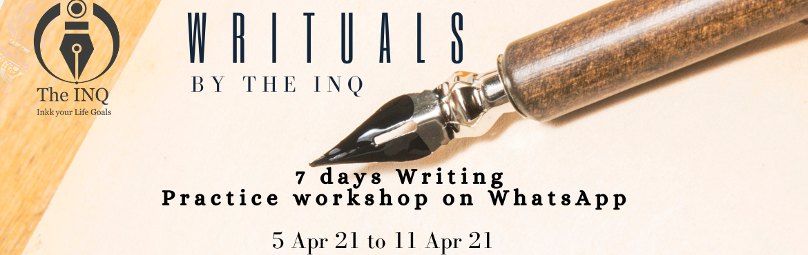 Book Online Tickets for Writuals 2.0 - 7 Days Whatsapp Based Wri, . Fear, Pain, Anxiety, Uncertainty, Stress, Depression, Overworked,... are these limiting your focus, determination, and perseverance ? In these 7 days , Major Nithi CJ , an Army Veteran and certified graphologist will help you build a writing routine