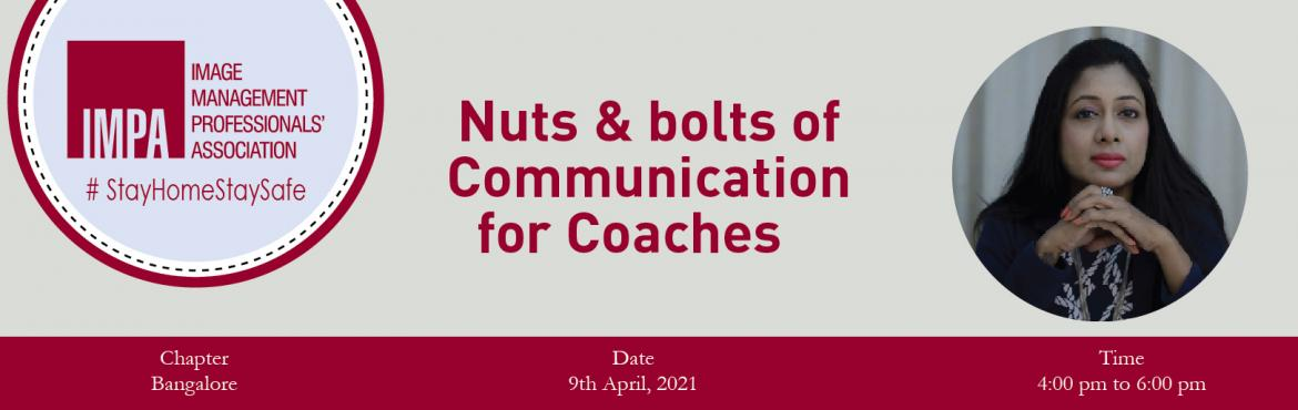 Book Online Tickets for Nuts and bolts of Communication for Coac, . About the Speaker Geetha Prasanna A subject matter expert in leadership, design thinking, public speaking,communications and image consulting, Geetha Prasanna is an industry veteran withover two decades of rich and diverse experience. As a Lear