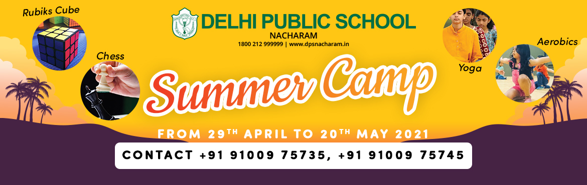 """Book Online Tickets for DPS Summer Camp, . """"Kids playing sports should be about learning the game they are playing and having fun doing it.""""Delhi Public School, Nacharam offers to nurture students with a fun filled energizing Virtual Sports Camp, during the summer break. Las"""
