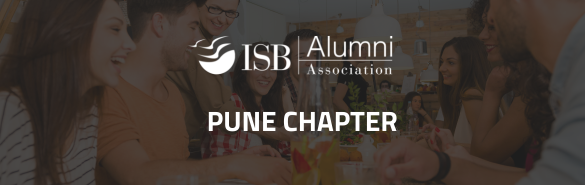 Book Online Tickets for ISBAA Pune Chapter | Alumni Meet Up, Pune. ISBAA Pune chapter organising an Alumni Meet Up Standard Covid protocol will be followed, It is the sole responsibility of the participants to take care of their own Covid precautions and ISBAA / Pune Chapter Team will not be responsible for any Covi