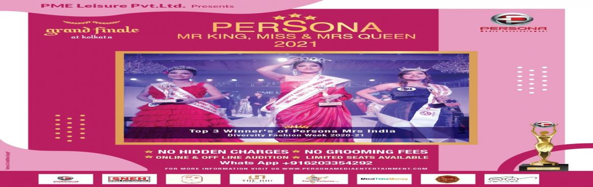 Book Online Tickets for PERSONA KING AND QUEEN 2021, Kolkata. PME Leisure PVT. LTDPresentsPERSONA KING AND QUEEN 2021in Kolkata. These Beauty Pageants give Girls and Boys additional skills that they can use in their life growing up. Competing gives them more confidence, develops social s