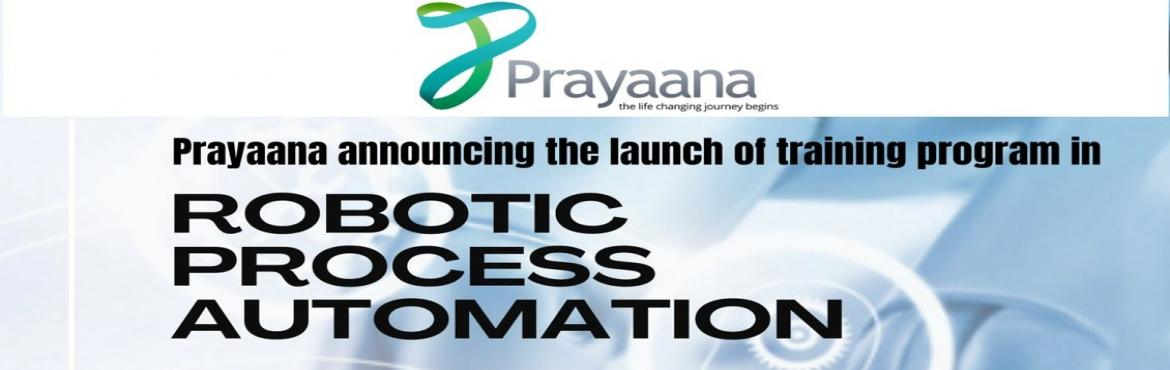 Book Online Tickets for RPA Training Program, . Training Program on Robotic Process Automation An opportunity to gettrained in RPA by experts from IT industry. Certification will be provided on completion of training. Registration fee of Rs 500/ only.