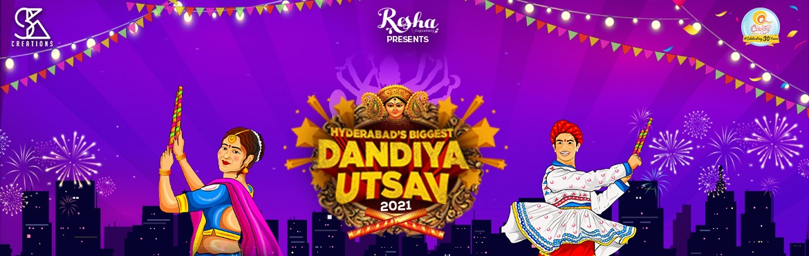 Book Online Tickets for Hyderabads Biggest Dandiya Utsav 2021, Hyderabad. ABOUT:- Hyderabad is now ready to witness the most awaited and smashing event of Dandiya Utsav this year at Country Club from October 7th to October 15th , 2021. This musical event gets a glamorous addiction with the Dazzling Hit Mix Live music at th