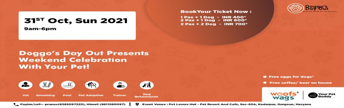 Book Online Tickets for DOGGOS DAY OUT, Kadarpur. Hey dog lovers! We\'re hosting a socializing event for both dog\'s parents and non-parents. There will be POOL, DRINKS, AND FOOD! We\'d love to have you on board with us.-Pets will be provided breakfast at arrival! Make sure you pack their bowls if t