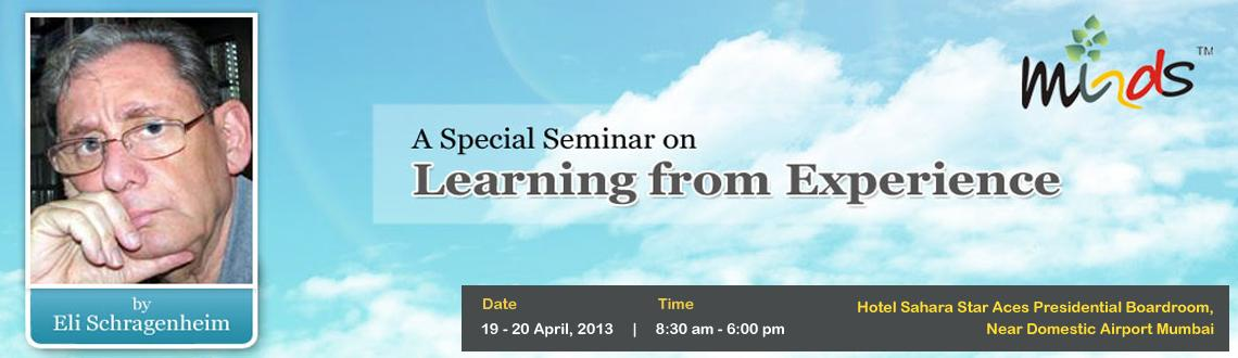 """Book Online Tickets for Learning From Experience seminar by Eli , Mumbai. Eli Schragenheim is well known international educator and management consultant and has worked closely with Dr.Eliyahu Goldratt of """"Theory of Constraints""""(TOC) This is a unique 2 day seminar for senior executives, entrepreneurs ,academici"""