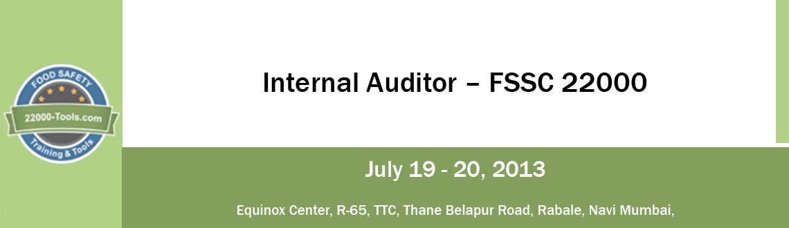 Book Online Tickets for Internal Auditor – FSSC 22000, Mumbai. 