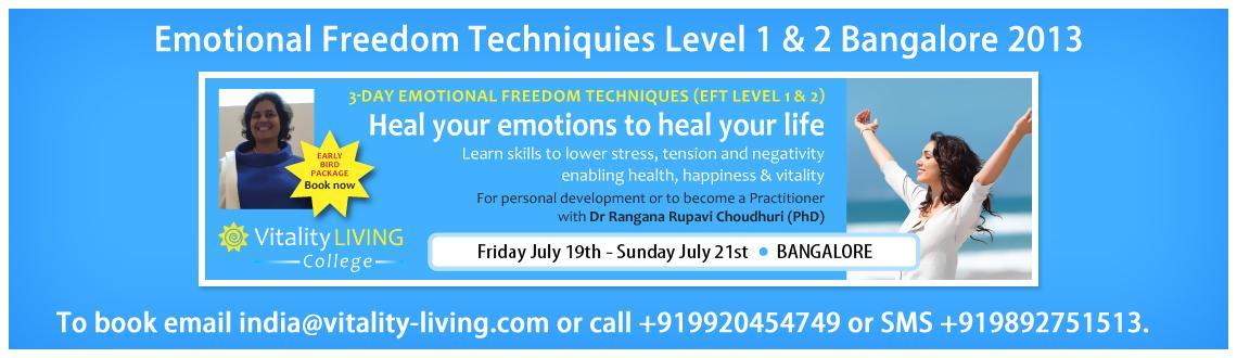 EFT (EMOTIONAL FREEDOM TECHNIQUES) Level 1 & 2 Bangalore 2013 with Dr Rangana Rupavi Choudhuri