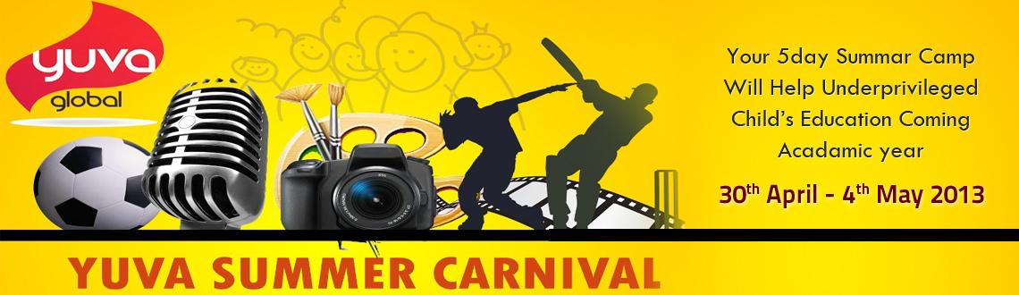Book Online Tickets for Yuva Summer Carnival, Bengaluru. Yuva is an organization working towards restoring lost childhood of 1200 underprivileged children by providing them complete free education and their overall development. Your joining in summer camp at YUVA will help to bring ligh