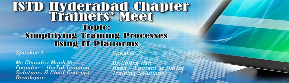 Book Online Tickets for Trainers Meet, Hyderabad.  