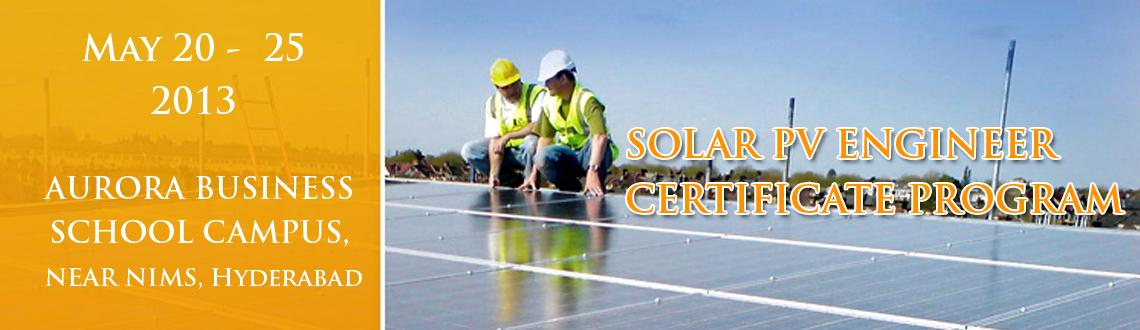 SOLAR PV ENGINEER CERTIFICATE PROGRAM