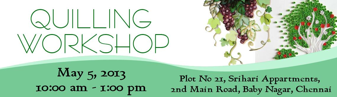 Book Online Tickets for QUILLING WORKSHOP, Chennai. Workshop content: Basics of quilling- various shapes- Loose and tight coils, about various tools, Practicing the basics, Loose coil earrings, Tight coil earrings, one jhumka, two other type earrings, One headband and one tic tac. You can take ba