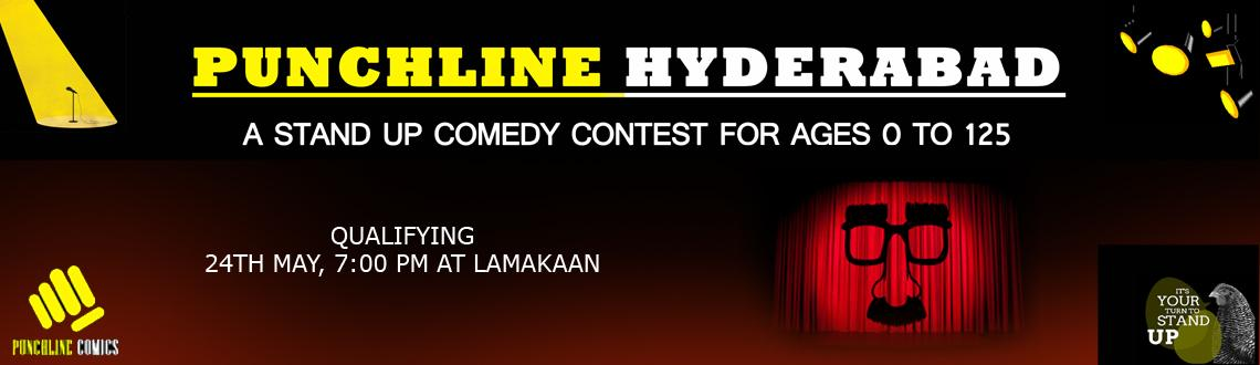 Book Online Tickets for Punchline Hyderabad - A Stand Up Comedy , Hyderabad. Punchline Hyderabad - Qualification  Punchline is a brand of Stand Up comedy, which travels the country seeking new and upcoming talent in the field. This event is open to ages 0 - 125 . The event will included some of Hyderabad\\\'s funniest