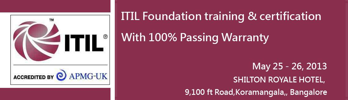 ITIL Foundation training & certification In Bangalore With 100% Passing Warranty @ QLogy