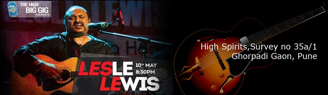 The High Big Gigs present Lesle Lewis on 10th May