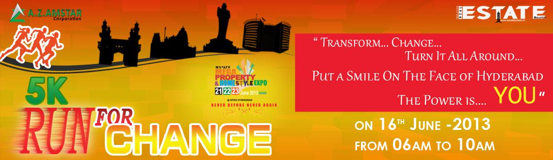 Run for Change on 16th June 2013 @ Necklace Road Hyderabad