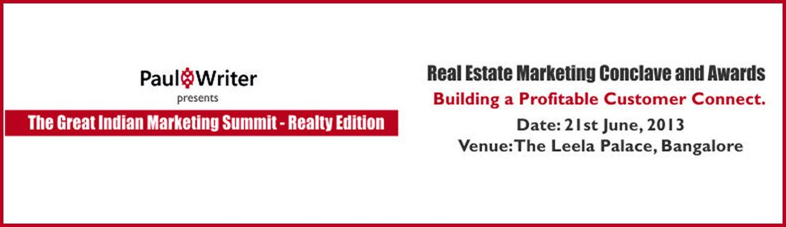 The Great Indian Marketing Summit - Realty Edition - Bangalore (GIMS-Realty)