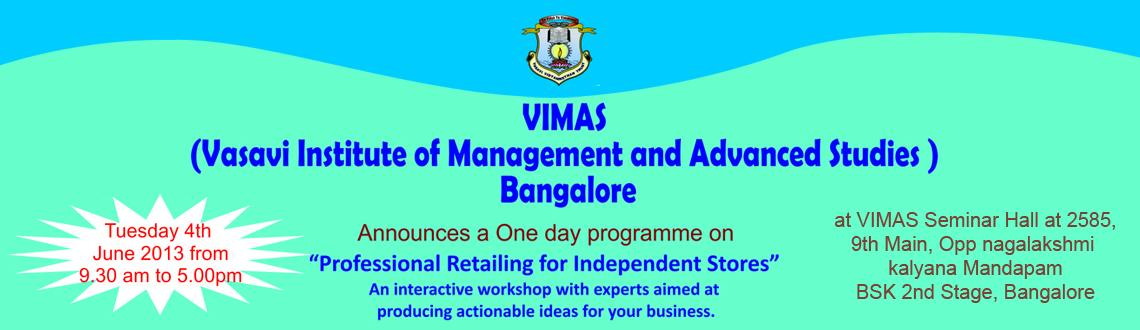 Professional Retailing for Independent Stores Workshop