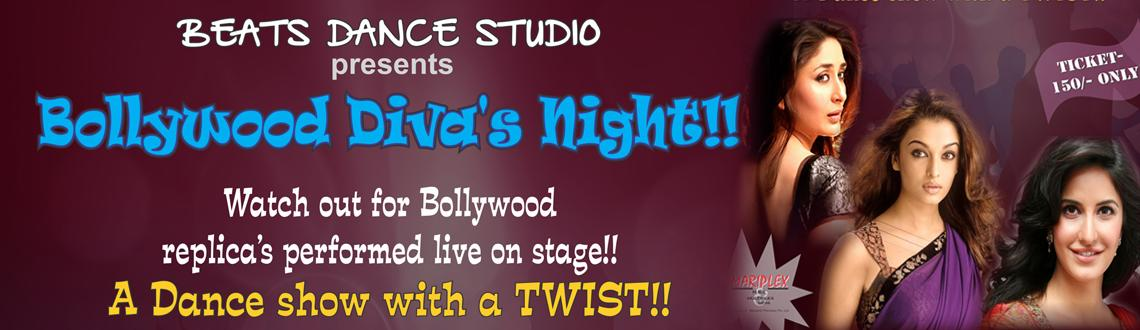 Book Online Tickets for Bollywood Divas Nite, Pune. Watch out for a dance event with a twist!! Bollywood replica\\\'s performing live on stage in Bollywood Diva\\\'s Night
