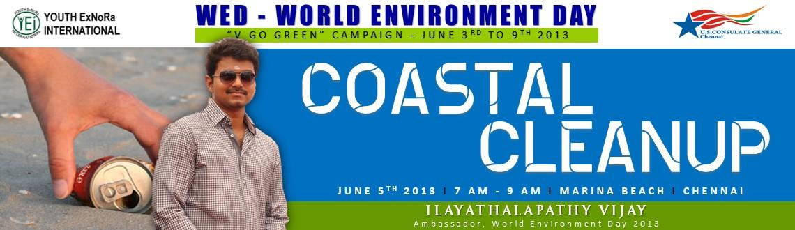 Coastal Clean Up at Chennai,Tamil Nadu on June 5th 2013 as a part of World Environment Day 2013 V GO GREEN