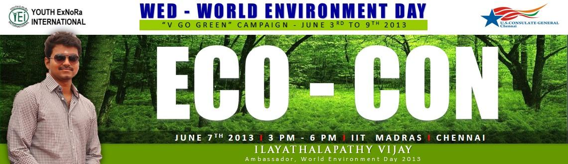 Eco Con at IIT madras, Chennai, tamilnadu on 7th june 2013 by US Consulate General Chennai as V Go Green Campaign on world environment day