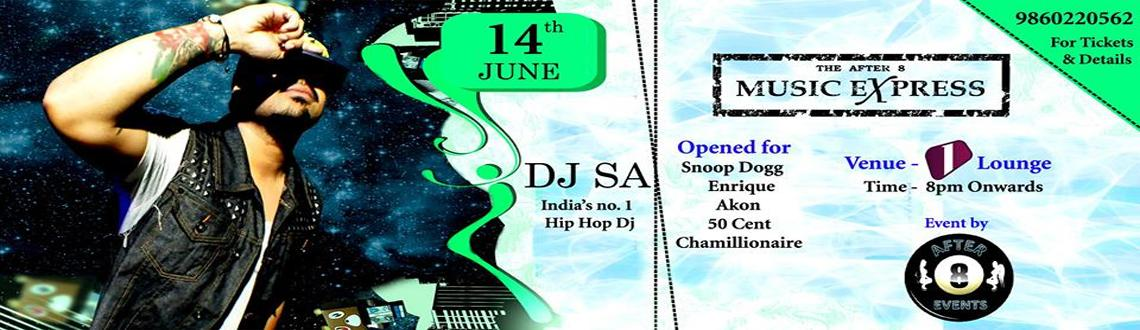 Book Online Tickets for After 8 Events presents Dj SA @ 1 lounge, Pune. We got a special treat for y\\\'all   The After 8 Music Express kicks off this June with Dj SA  ** Limited ** Early Bird Tickets @ Rs. 500 Couple/Stag