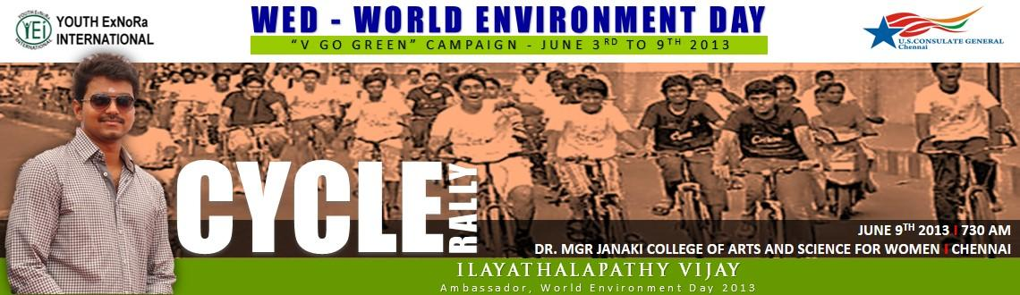 Cycle Rally Event at Dr. MGR Janaki College of Arts Science for Women