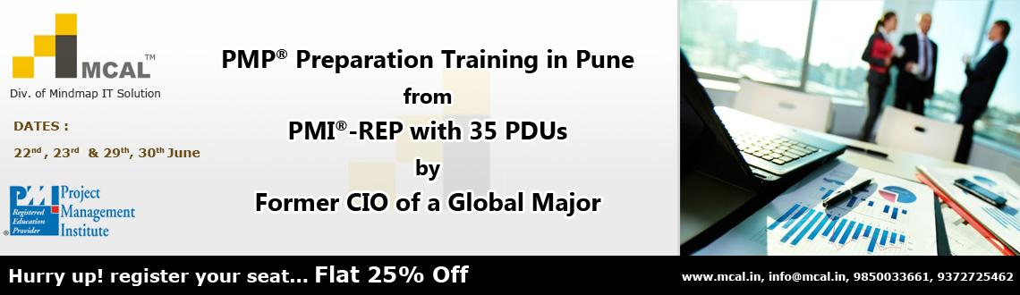 PMP Preparation Training from PMI-REP with 35 PDUs in Pune from 22nd June, 2013