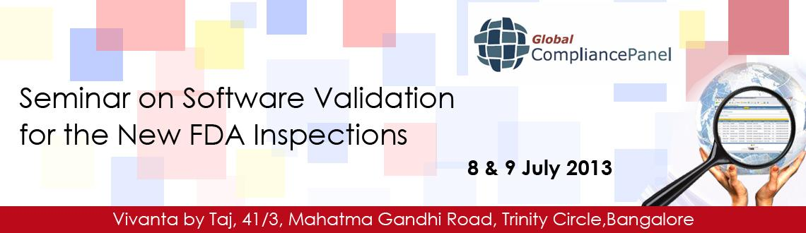 2-day In-person Seminar on Software Validation for the New FDA Inspections at Vivanta by Taj, Bangalore