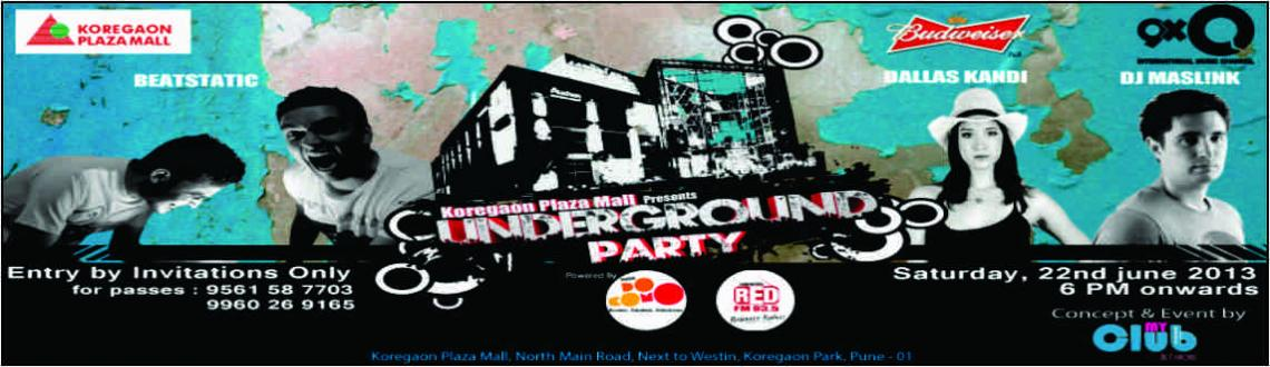 Book Online Tickets for KPM Underground , Pune. Ain\\\'t you bored of partying the same way? KP  Plaza Mall & MyClub magazine brings you the Next level of party  experience in your very own city. It\\\'s exciting, innovative and first of  its kind basement concert in India. Major musical acts: