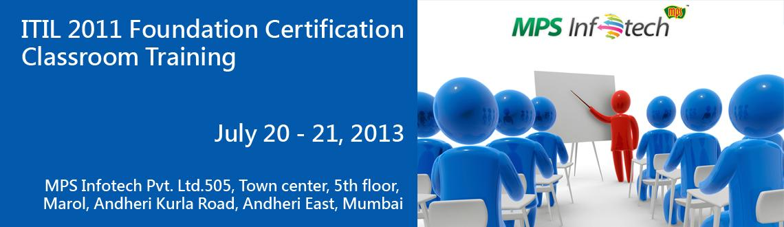 ITIL 2011 Foundation Certification Classroom Training in Mumbai