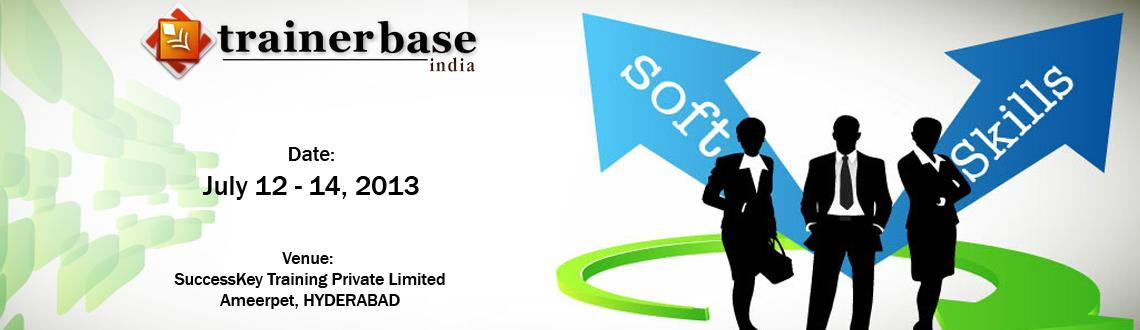 Book Online Tickets for CERTIFIED SOFT SKILLS TRAINER, Hyderabad. The demand for PROFESSIONALLY trained TRAINERS is continuously on the increase. In these days of soft skills boom and rapidly changing training needs, genuine trainers are hard to come by!!