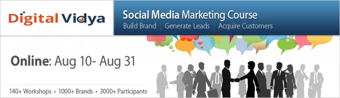 Book Online Tickets for Social Media Marketing Course Aug 10 - A, NewDelhi.  Course Overview Doing Social Media is no more an option today. What matters is how you do it! If you are looking at leveraging Social Media forBrand Promotion, Lead Generation and Customer Acquisition, you may not want to miss this case-stud
