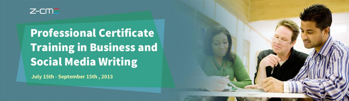 Professional Certificate Training in Business and Social Media Writing
