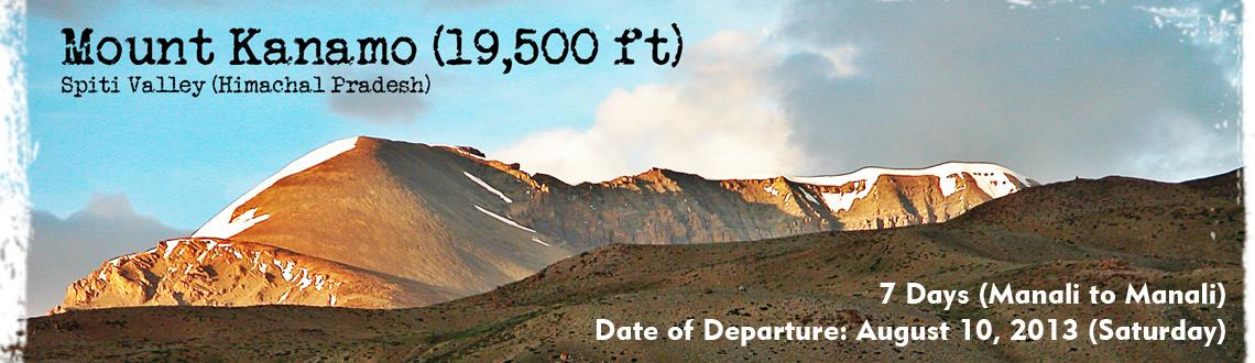 Book Online Tickets for Trek to Mount Kanamo, Manali. In the local language of Spiti, \\\'Ka\\\' means snow and \\\'Namo\\\' means lady. Kanamo, therefore, simply translates to the white lady, the one who witnesses the daily life of a remote Spitian village called Kibber, from where the trek starts.