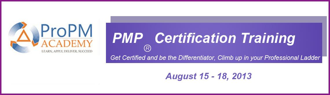 Book Online Tickets for PMP Exam Prep (Fast Track)- Aug 15th, 16, Bengaluru. Project Management Professional (PMP) is a credential offered  by the Project Management Institute (PMI). Government, commercial and  other organizations employ PMP certified project managers in an attempt  to improve the success rate of projects in