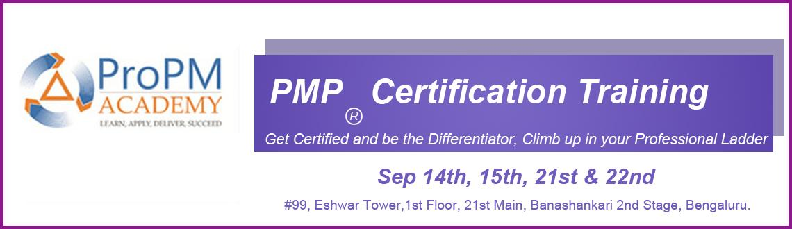 PMP Exam Prep (Weekend)- Sep 14th, 15th, 21st & 22nd