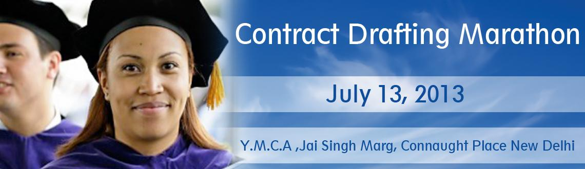 Book Online Tickets for Contract Drafting Marathon, NewDelhi. Have you been wondering how to improve your contract drafting skills? You know the answer to it probably - you need to do a draft a lot of contracts, of many varieties, get good quality feedback and learn the techniques that \\\'separate the men fro