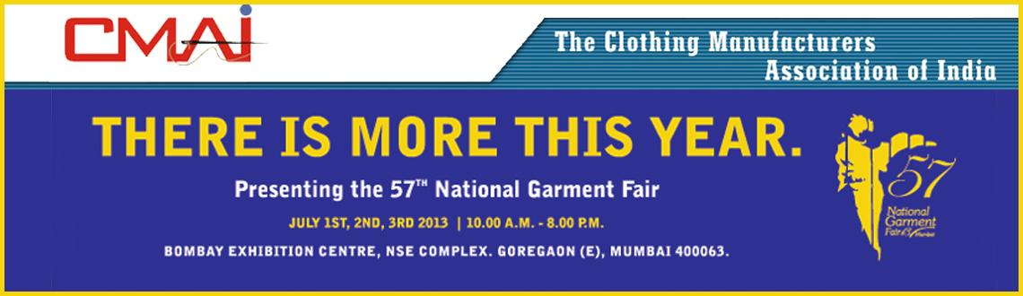 Book Online Tickets for 57 National Garments Fair, Mumbai.  