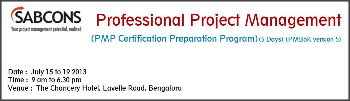Professional Project Management<br>(PMP Certification Preparation Program) - PMBoK Version 5 - Bengaluru