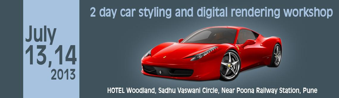2 day car styling and digital rendering workshop