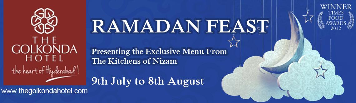 Book Online Tickets for Ramadan Feast, Hyderabad. The  year long wait now comes to an end.To cherish our lives with  goodness,blessings and lots of appetizing food, here comes the very  auspicious Ramadan. Jewel of Nizam & Melange celebrates this eternal  divinity in their regal style to provide