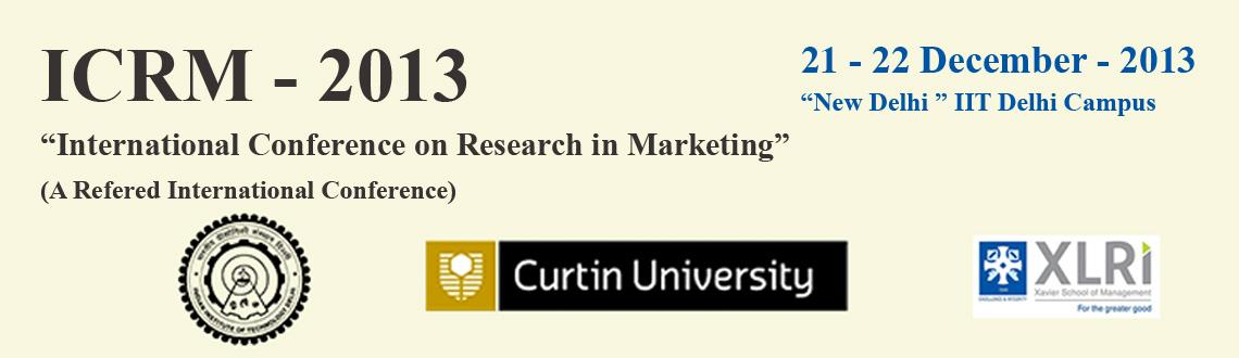 International Conference on Research in Marketing