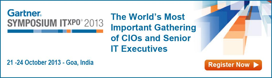 Book Online Tickets for Gartner Symposium/ITxpo 2013, Bambolim. About Symposium/ITxpo:                                                          