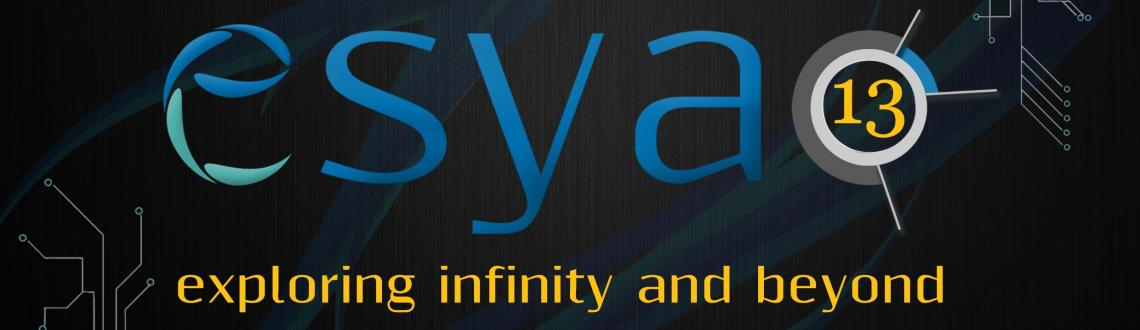 Book Online Tickets for Esya: IIIT-Delhi, NewDelhi. Esya\\'13 is a two-day national level technical festival being organized by Indraprastha Institute of Information Technology (IIIT), Delhi. It is scheduled to take place on Friday, August 16, 2013 and Saturday, August 17, 2013.