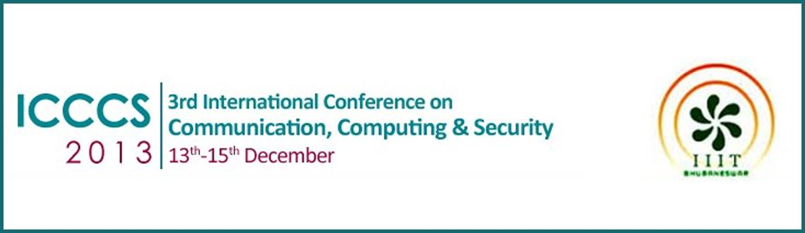 3rd International Conference on Communication, Computing & Security