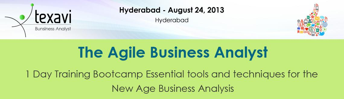 Book Online Tickets for Texavi's Agile Business Analyst B, Hyderabad. The Agile Business Analyst training bootcamp in Hyderabad is a 1-day intensive workshop. Learn the practical insights, skills that make you the perfect new age, agile business analyst. Learn from Texavi\\\'s experienced and certified trainers and gai