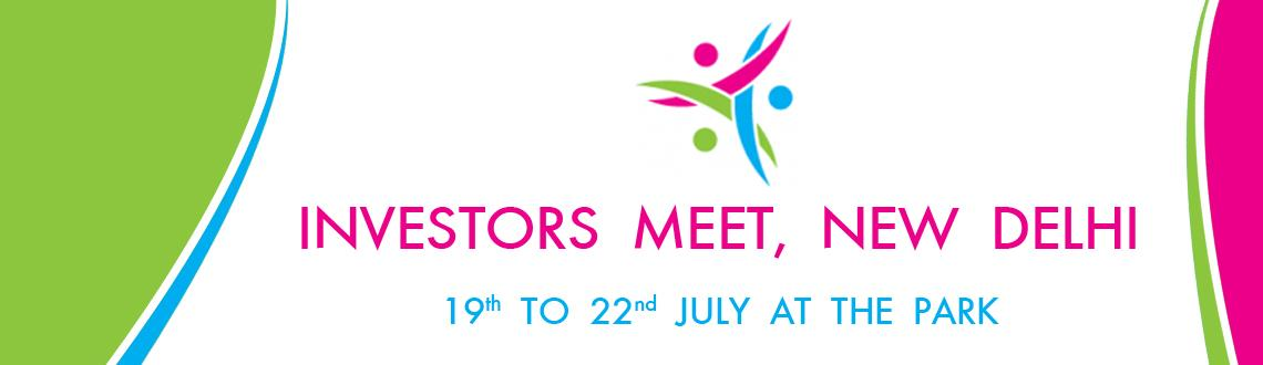 Book Online Tickets for Investors Meet, New Delhi, NewDelhi. Leading consulting service provider M/S gNexus Point owning www.gnexuspoint.com has organized this years Investors Meet at Hotel The Park, New Delhi from July 19th to 22nd, 2013. This event has been organized by the company in pursuit of providing ex