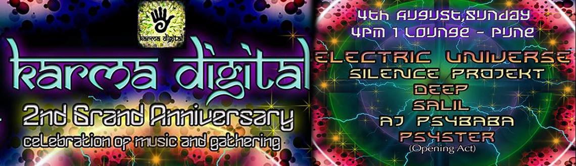 Electric Universe-Karma Digital-2nd Anniversary on 4th Aug-2013 @ 1 Lounge