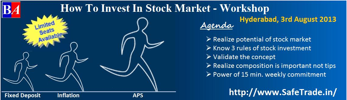 Book Online Tickets for How To Invest In Stock Market, Hyderabad. 