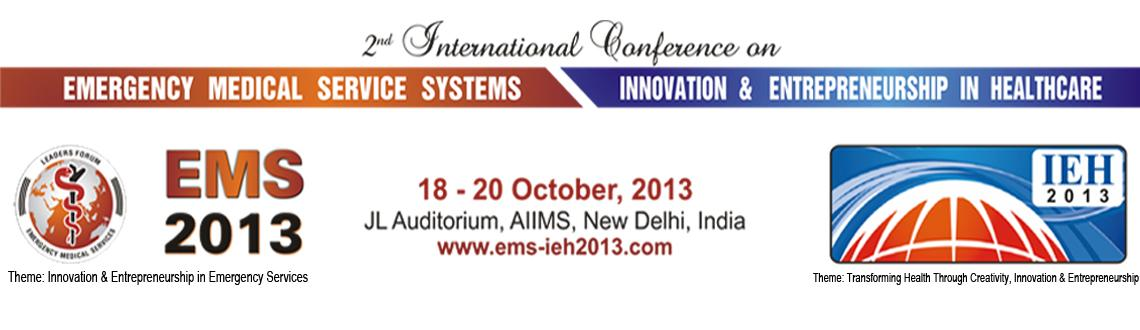 Book Online Tickets for 2nd International Conference on Emergenc, NewDelhi.  EMS - IEH 2013 : Highlights   The conference provides an open platform to bring together scholars & practitioners from across the globe to present their original research and innovations. It intends to stimulate discussion